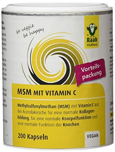 Glucosamin Creme Für Den Körper (Raab Vitalfood MSM-Kapseln, Methylsulfonylmethan, Vitamin C für eine normale Kollagenbildung, eine normale Knorpelfunktion, 90 Stück, hochrein, vegan)