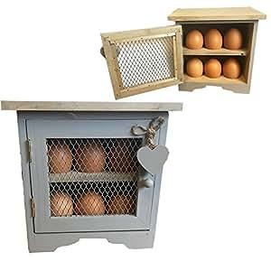 boite cave rangement oeufs design vintage en bois pour 12 oeufs coeur gris. Black Bedroom Furniture Sets. Home Design Ideas