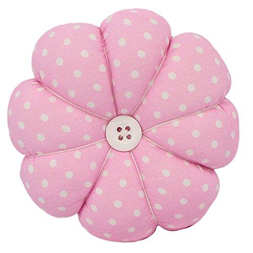 Sharplace Kürbis Handgelenk-Pin-Kissen Tragbares Nadel Nadelkissen - Rosa