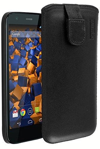 mumbi ECHT Ledertasche für Motorola Moto G Tasche Leder Etui (Lasche mit Rückzugfunktion Ausziehhilfe)