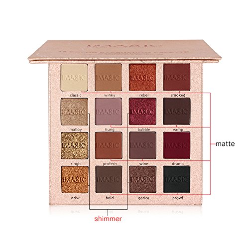 51%2BCPS3txqL - Pretty Comy 16 Colors Eye Shadow Matte Shimmer Waterproof Durable Eyeshadow Palette Birthday Gifts