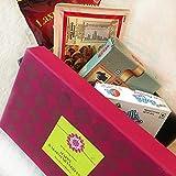 #8: Delight Foods Rakhi Gift Combo - From Brothers (Badam Chiwda+Bakarwadi+Kesar Angoori Petha+Rose Son Rolls)