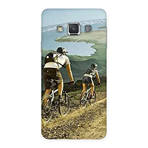 Premium Bycycle View Back Case Cover for Galaxy A3