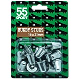 55 Sport Aluminium Replacement Rugby Studs BS6366 - 16 x 21mm