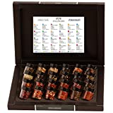 Hallingers Tea Deluxe Selection 24 - Tea Calendar BLACK | Set/Mix | 24x Miniglas in Deluxe-Box | 240g