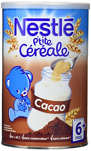 Nestlé Bébé P'tite Céréale Cacao dès 6 mois 400g - Lot de 4