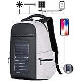 Eshow Männer Laptop-Rucksack mit USB-Port-Ladegerät Solar-Ladegerät für...