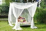 Schöner Baldachin Betthimmel Dekohimmel Mückenschutz für Einzel- oder Doppelbetten!