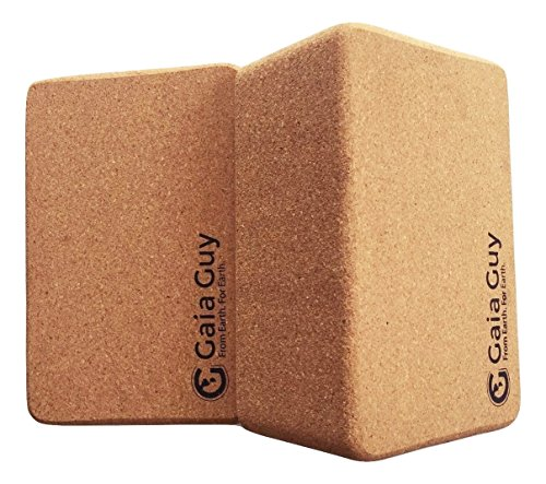 100% ecológico - 2 bloques de yoga de corcho - 10 cm x 15 cm x 23 cm (4