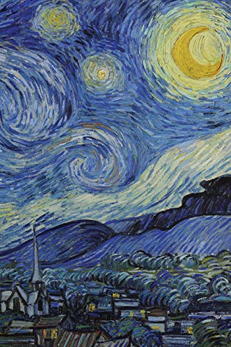 Starry Night, Blank Journal: Vincent van Gogh notebook/composition book, 140 pages, 6 x 9 inch (15.24 x 22.86 cm) Laminated