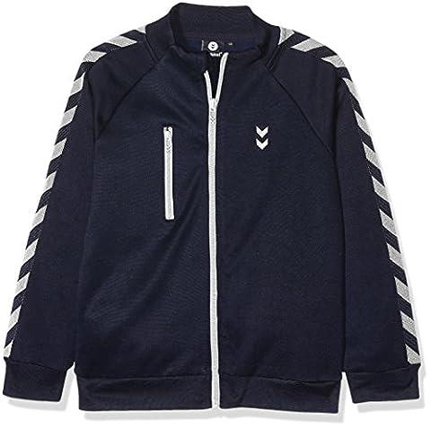 Hummel Jungen Zipper - JUNIOR V GRAND ZIP JACKET - Longsleeve Blau - Sweater mit Reißverschluss - Baumwollshirt Kinder für Freizeit & Sport, Total Eclipse, (Luft Zipper)