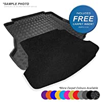 carmats4u To fit GLC SUV X253 2015+ Fully Tailored PVC Boot Liner/Mat/Tray + Black Carpet Insert