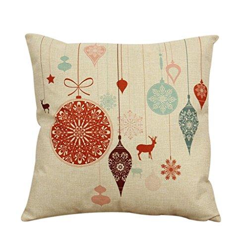 Trrad® Vintage Natale Federe Cuscini Cuscino Coperchio Lino cotone, divano letto decorazione domestica 45X45