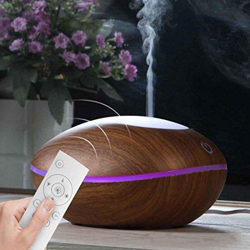 Luftbefeuchter Ultraschall Aroma ätherisches Öl Diffusor intelligente Fernbedienung Aroma Diffusor , wood