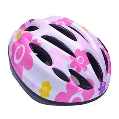 Pink Flower Girls Helmet Children's Cycling Skating Scooter Bike Kid's Helmet 50-60cm from Powerbank2013