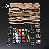 LaDicha 5 Stücke Elektronische Teile Komponente Widerstände Schalter Taste Kit Für Arduino