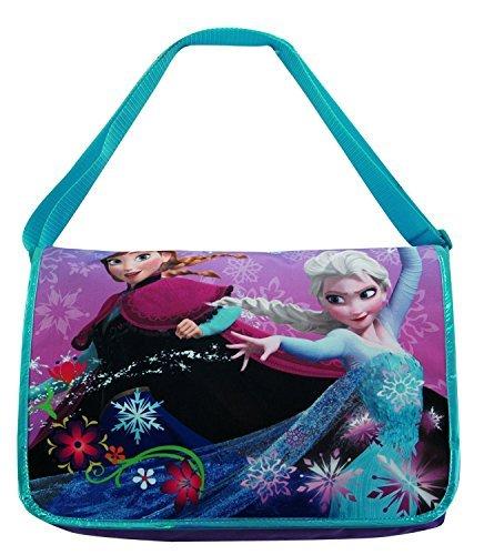 ss Elsa and Ann Messenger Bag with Key Chain: Anna Elsa & Olaf by Disney ()