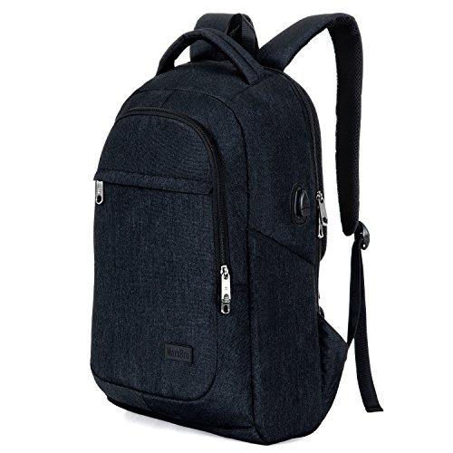 Preisvergleich Produktbild marsbro Business Reise Wasserabweisendes Polyester 39,6cm Laptop Rucksack schwarz