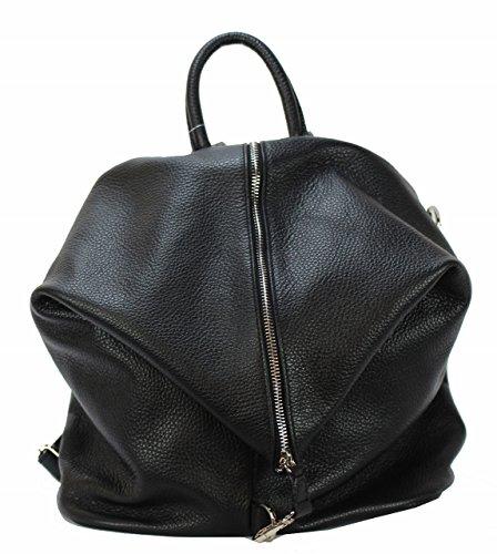 BZNA Bag Mara Schwarz Backpacker Designer Rucksack Ledertasche Damenhandtasche Schultertasche LederItalyNeu