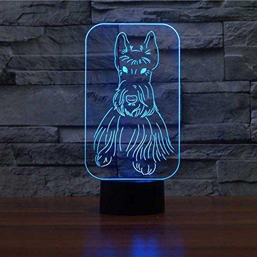 orangeww 3D Dinosaurier Nachtlicht LED Elefanten lampe USB 7 Farben Bunte Hund Leuchte Ändern Schlafzimmer Beleuchtung Dekor Kid\'S Spielzeug geschenke