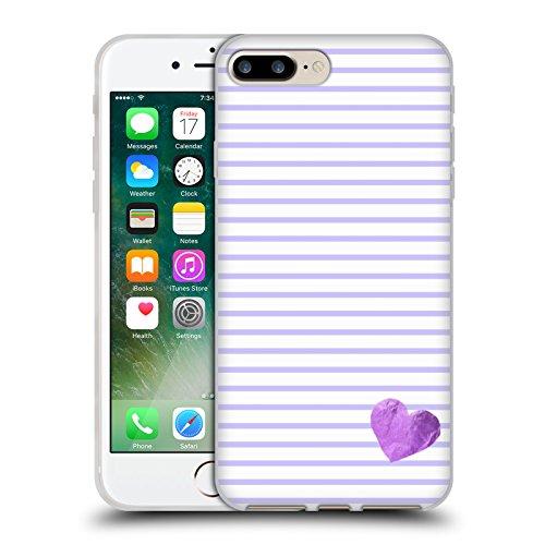 Offizielle Monika Strigel Rot Kleines Herz Soft Gel Hülle für Apple iPhone 5 / 5s / SE Purpur