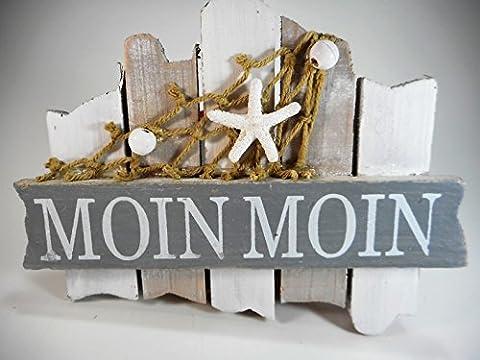 Moin Moin Badezimmer Schild 18 cm Möwe Beach Maritim Wohnen
