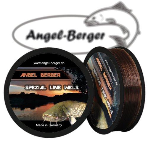 Angel-Berger Spezial Line Angelschnur Zielfischschnur Aal, Forelle, Hecht, Zander, Karpfen, Dorsch, Weissfisch (Wels, 0,60mm / 29,50Kg)