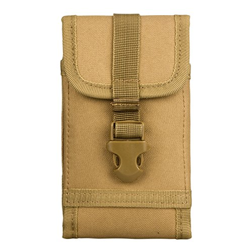 Often Molle Taktische Handytasche Hüfttasche Outdoor Sports Military Gürteltasche für iPhone 7 Plus, iPhone 6 Plus, iPhone 6S Plus, Galaxy Note 4, S8 Plus, S7 Edge, S6 Edge, Huawei G7, Mate 9 (Khaki)