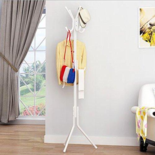 GEZICHTA Metall Rack Baum mit 3Etagen 12Haken, freistehend Coat Rack Hat Kleiderbügel, Jacke Regenschirm Baum Ständer für Garage Foyer Büro Schrank, Weiß - Rack Coat Regal Mit Haken