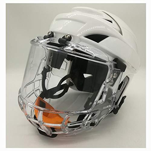 CX TECH Hockey Players Helmet Face Mask Schutzausrüstung Hockey Mask Helmet Hockey Helmet Steel Combo Cage Starke Schlagfestigkeit,L -