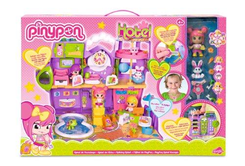 Pinypon - 700007514 - Mini-Poupée - L'Hôtel + 2 Figurines