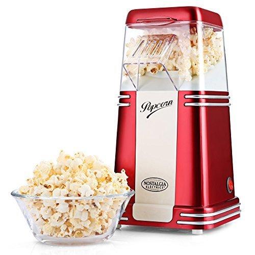 NOSTALGIA ELEKTRIK Heißluft Popcorn Maker Mais-Popper-Maschine mit Transparentem Gehäuse (240v Schritt)
