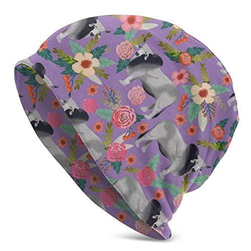 Brahman Cow Floral Summer Beanie für Männer und Frauen - Leichte Chemo Cotton Fashion Hat