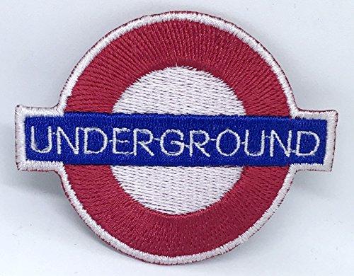 Parche bordado logotipo Londres coser planchar
