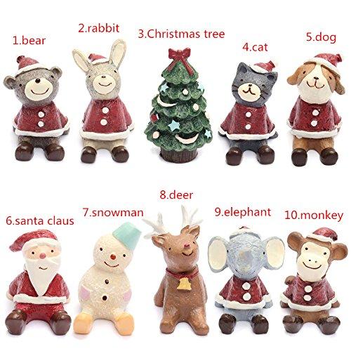 Bluelover Schöne Weihnachtshochzeit Santa Animals Dekoration Cute Resin Geschenk-Dekorationseinrichtung - 1
