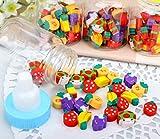Schul- / Bürobedarf 1 Set Mini Fruit Radiergummis Kinder Radiergummis Geschenk Babyflasche Bunte Radiergummi Set Radiergummis eingestellt