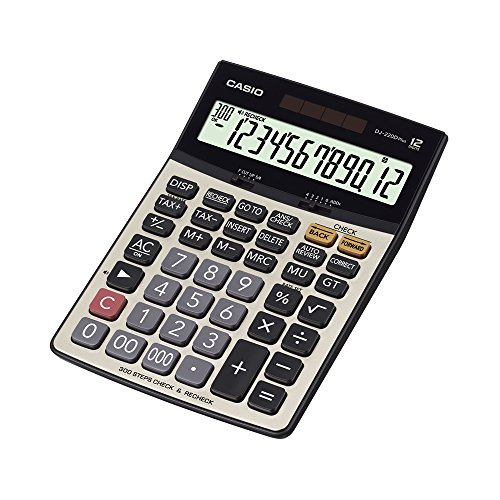 Casio DJ-220D Plus Desktop Calculator (Silver and Black)