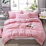 4-teiliger auf weichem Bett, perfekt für Sommer und Winter, super atmungsaktiv,Einfaches Bett aus Aloe-Baumwolle, vierteilig, Farbe31, 2,2 m
