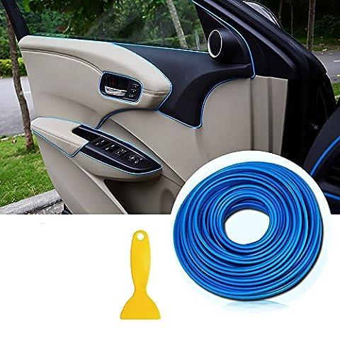 Car Trim Strips -AUTOMAN 196 inches Gap Filler Flexible Interior Decorative Moulding Strip Line Stickers DIY (Dark