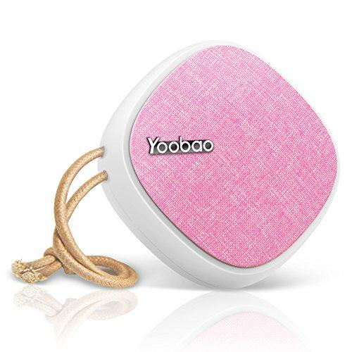 Bluetooth Lautsprecher Yoobao 2000mAh Portable Stereo Bluetooth 4.2 Mini Kabelloser Outdoor-Lautsprecher mit Griff 8-12 Stunden Spielzeit Universal Musik-Player für Strand, Radfahren und Party - Rosa (Dusche Lautsprecher Iphone)