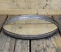 Idea Regalo - Portacandele a specchio, effetto argento, 30 cm