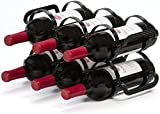 Mango Steam Portabottiglie per 6 bottiglie di vino, nero