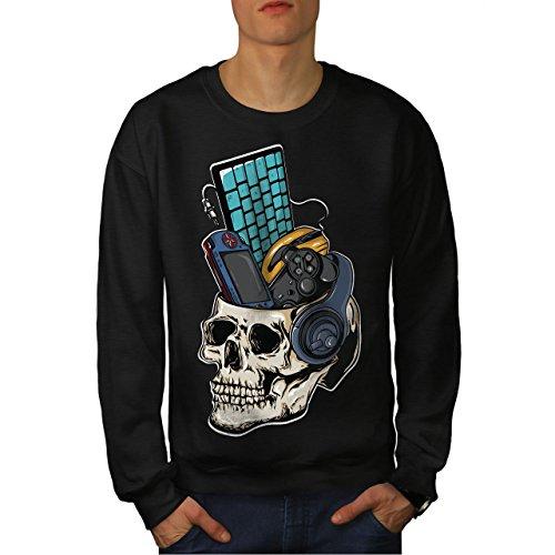 Schädel Gaming PC Geek Männer XL Sweatshirt | Wellcoda