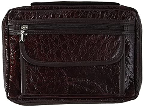 Embassy Alligator Embossed Burgundy Genuine Leather Bible