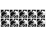 Adhesivo de azulejo No. CG154Foam Party Set, Color: Morado; Azulejos tamaño: 25cm x 20cm