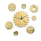 Zskglm DIY Wall Clock Gear Wand Uhr Aufkleber 3D Kreative DIY Dekoration Wand Uhr Präzision Drehen Linse Sofa Hintergrund