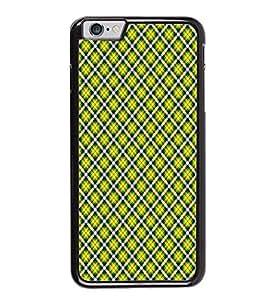 Fuson Designer Back Case Cover for Apple iPhone 6S (strips squre artistic cross lines cheks wallpaper)