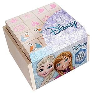 MULTIPRINT Frozen - Juegos de Sellos para niños, Caucho, Madera, 3 año(s), Italia, 70 mm, 70 mm