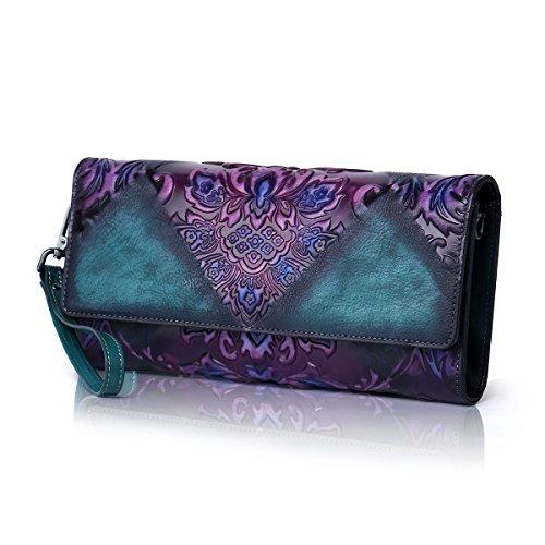 Aphison, Borsa a mano donna Purple green