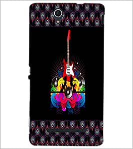 PrintDhaba Guitar D-4607 Back Case Cover for SONY XPERIA C3 (Multi-Coloured)
